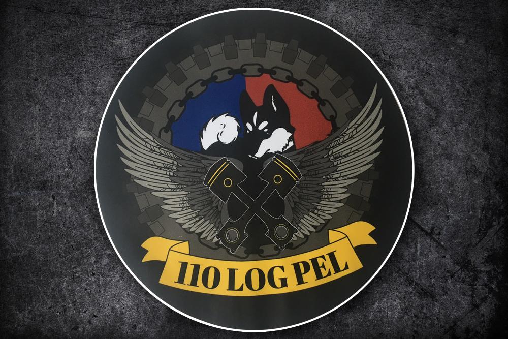 Sticker Defensie 110 logistiek peleton